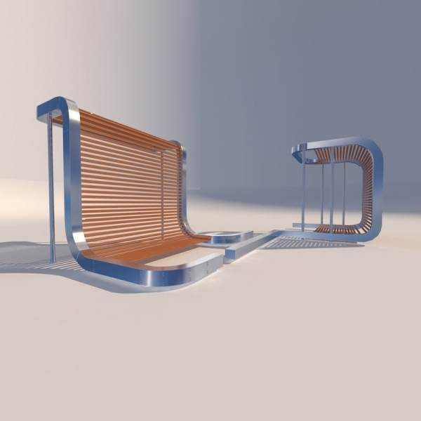 Metal Bench 3d Model - Year of Clean Water