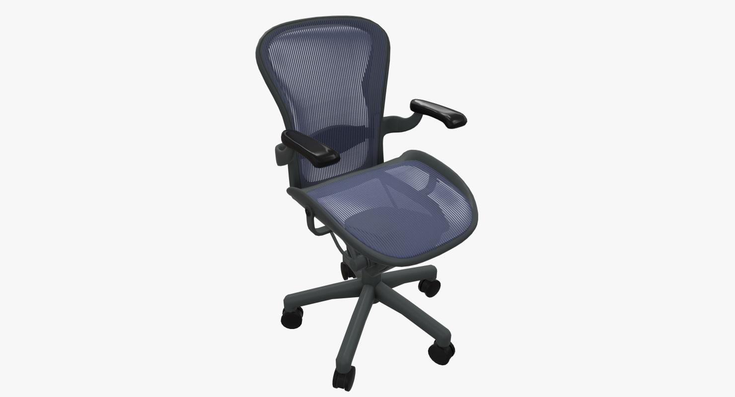 aeron chair herman miller review chiavari rental nj 3d model turbosquid 1232310