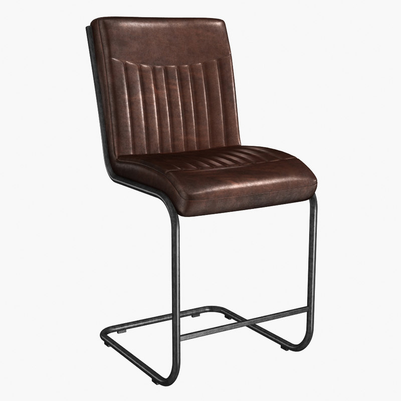 industrial dining chair patio rocking chairs 3d model turbosquid 1233690