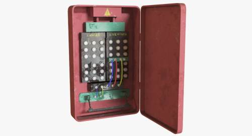 small resolution of fuse box 3d model