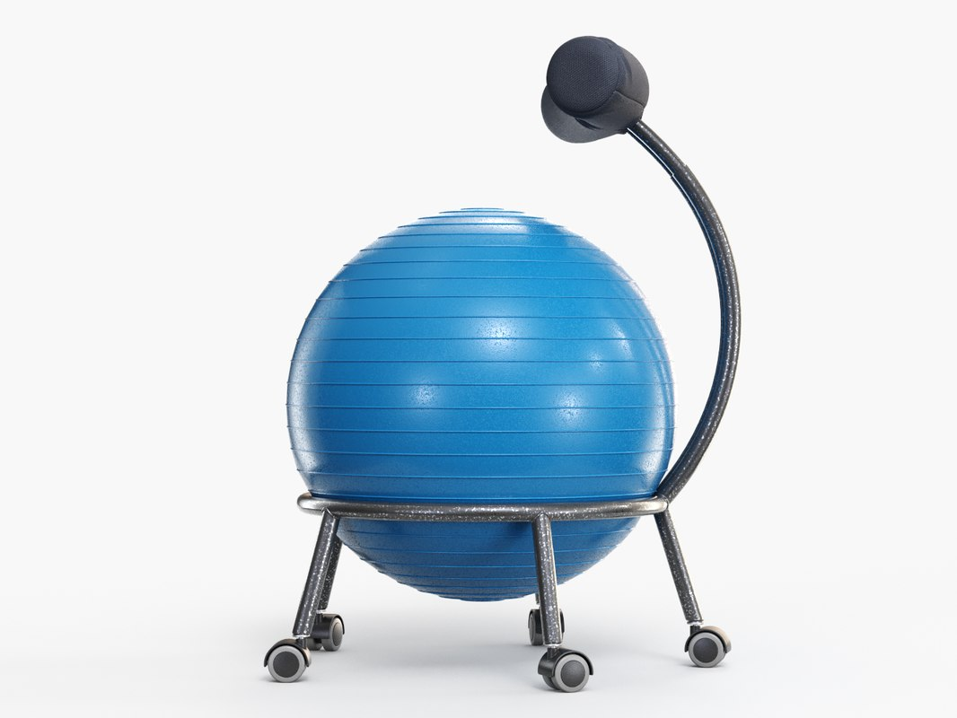yoga ball office chair luxury rocking chairs 3d model turbosquid 1238483