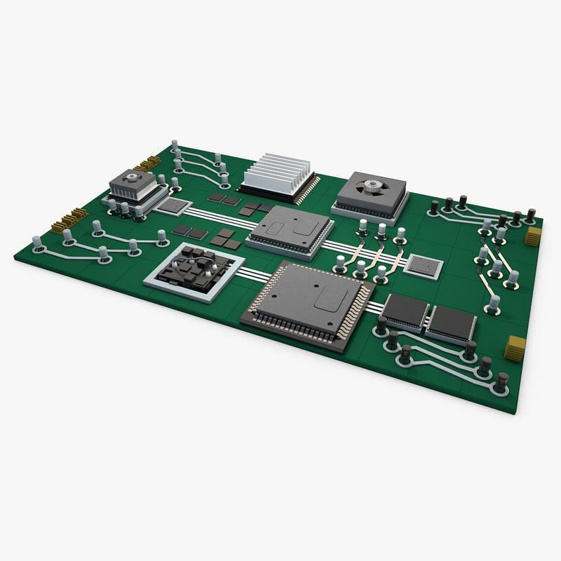 circuit board 3d model year of clean water