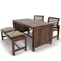 Garden Furniture Applaro Ikea 3d - Turbosquid 1240336