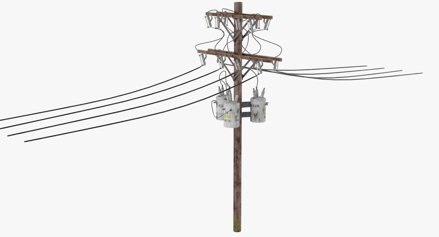 Electric Pole 3d Model