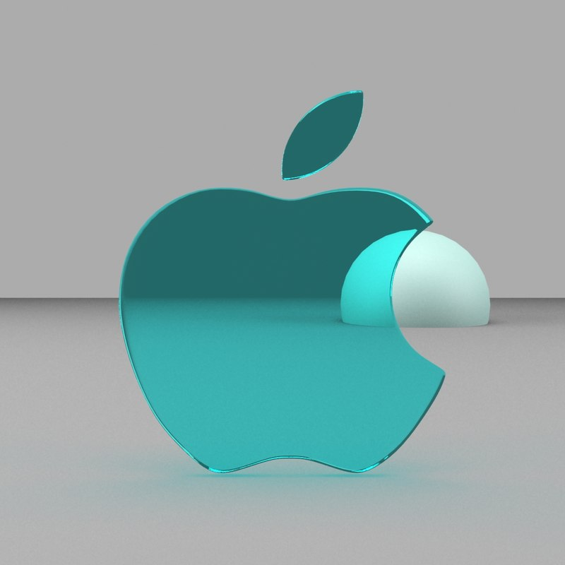 apple logo 3d model