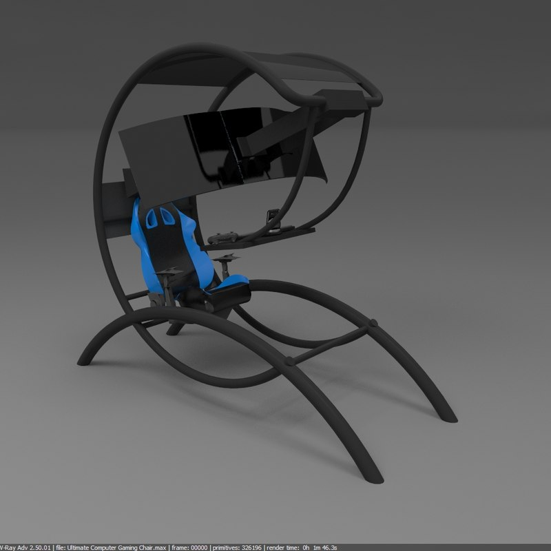 ultimate computer chair childs desk and gaming 3d model turbosquid 1270553