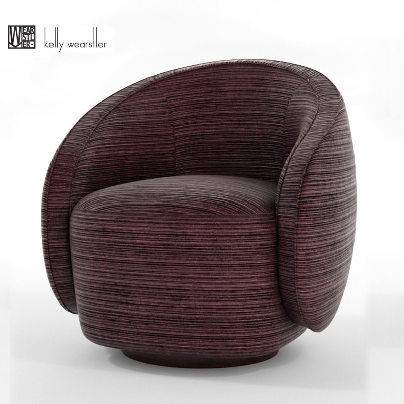 swivel chair vr covers for furniture 3d kelly wearstler turbosquid 1271186