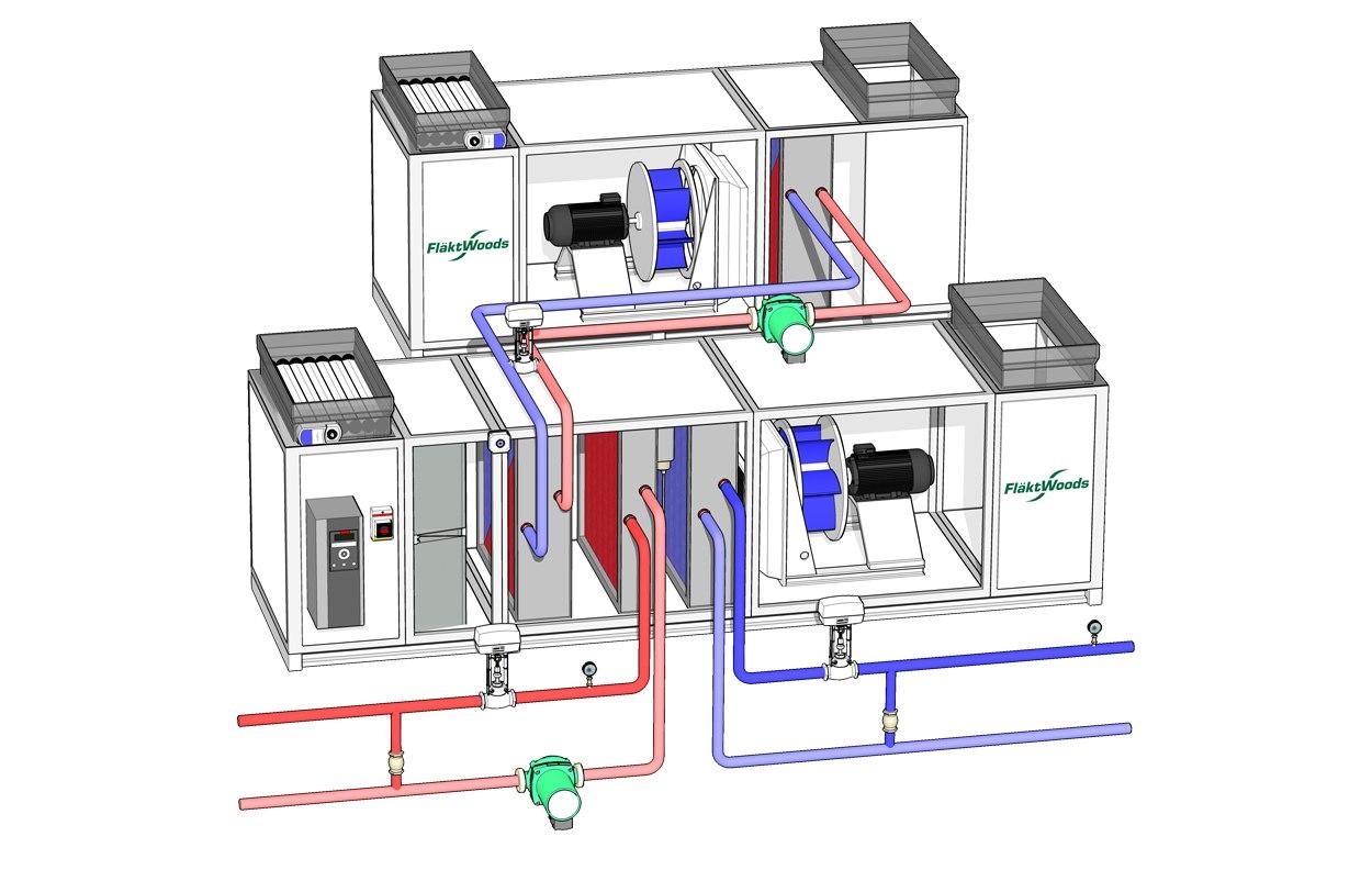 hight resolution of air handling unit 3d