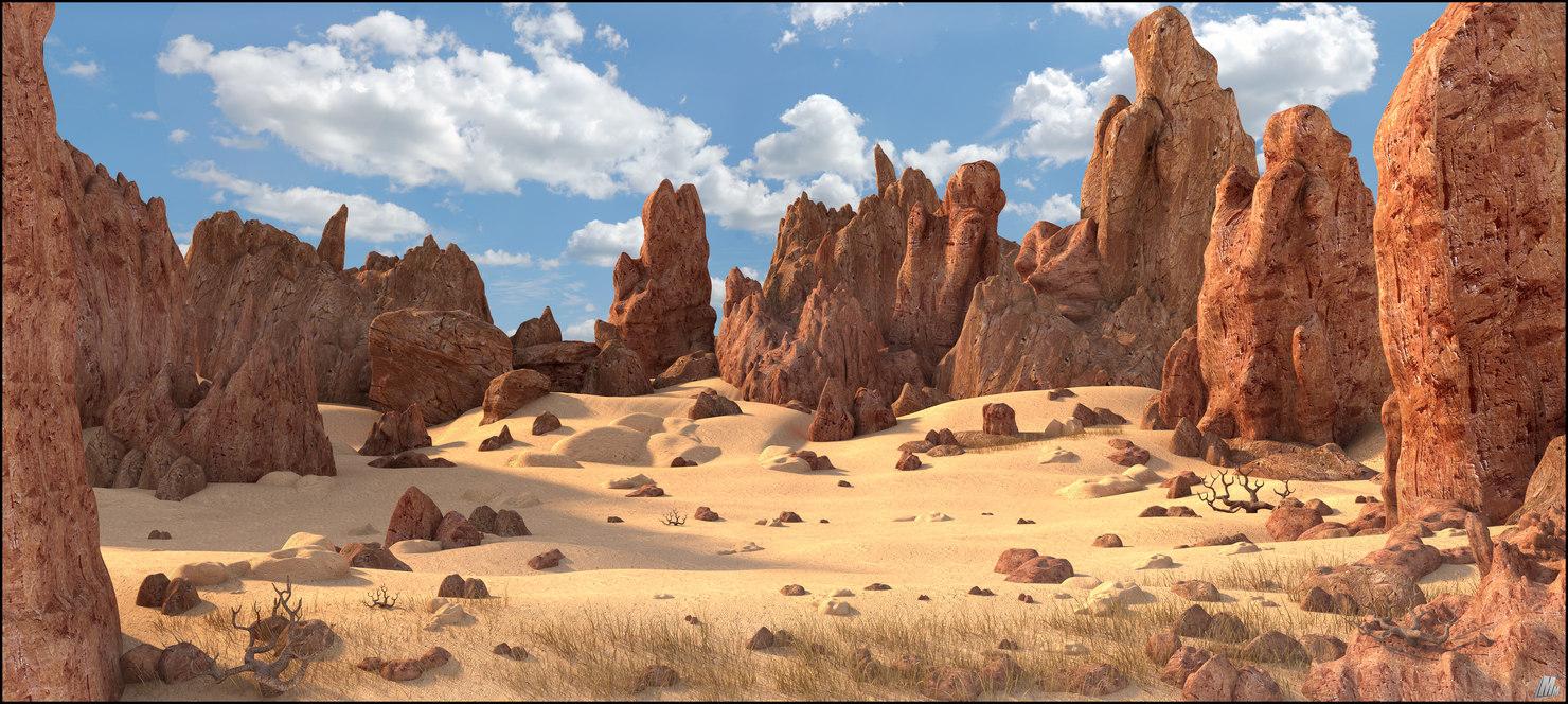 desert rocky landscape