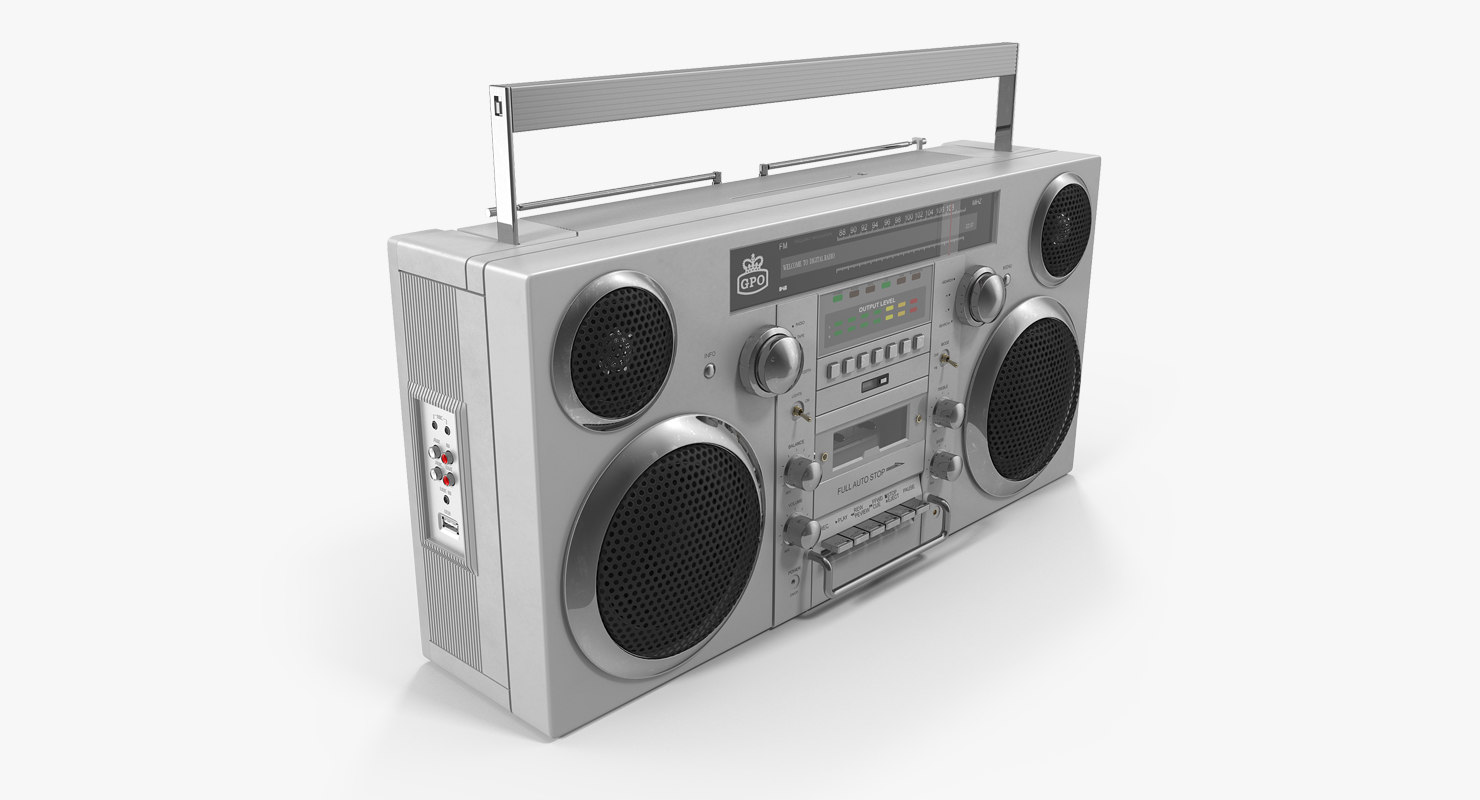 gpo retro portable boombox