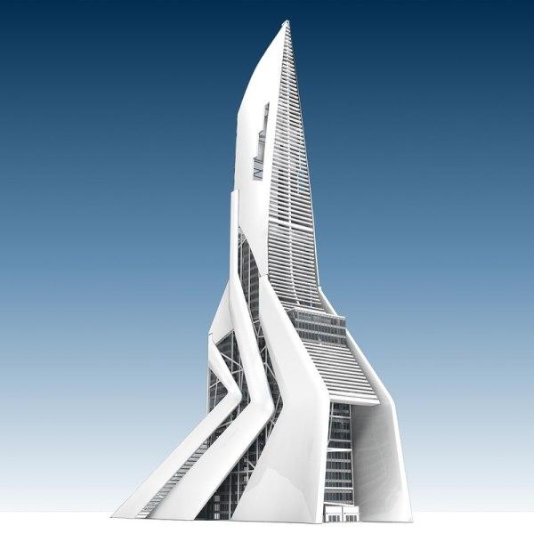3d Future Generic Building Model - Turbosquid 1307610