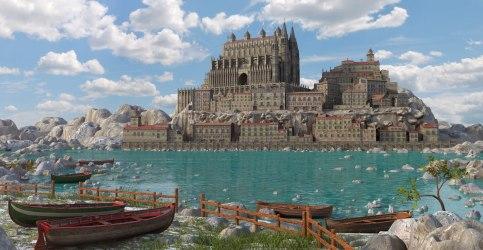 medieval fantasy town 3d turbosquid models hq
