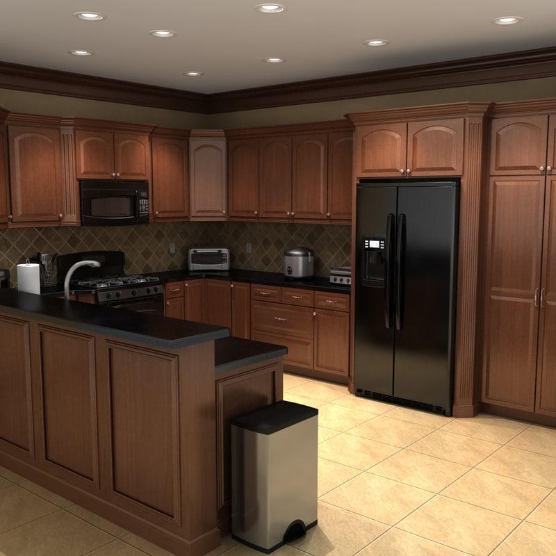 full kitchen set win makeover 3ds max scene