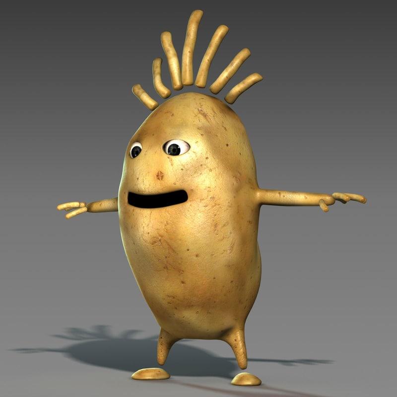 3ds Max Character Cartoon Style Potato
