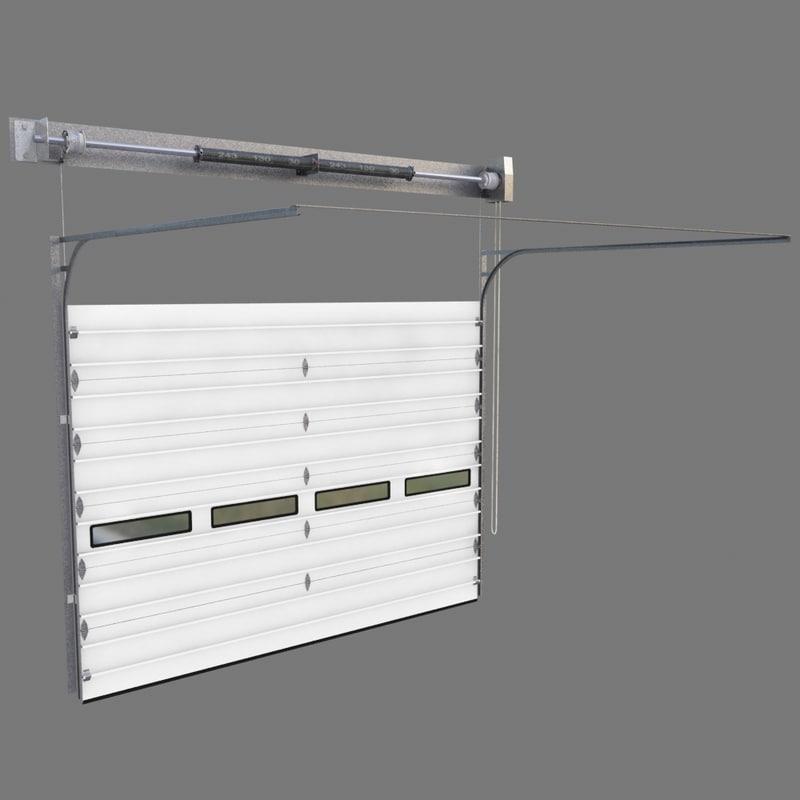 3d Model Garage Door Assembly