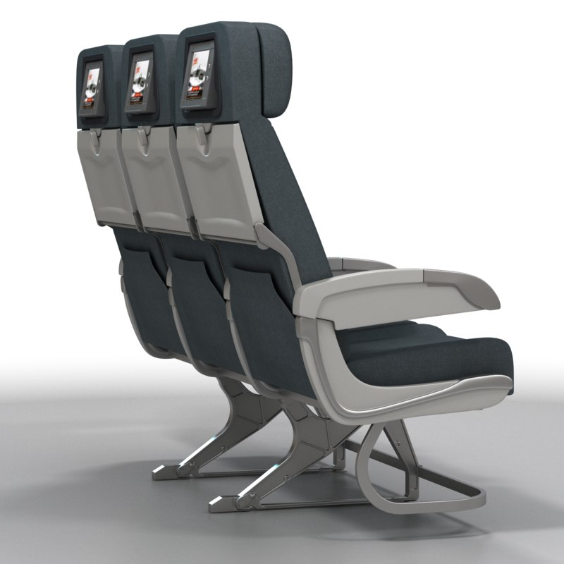 airline chairs 3d model