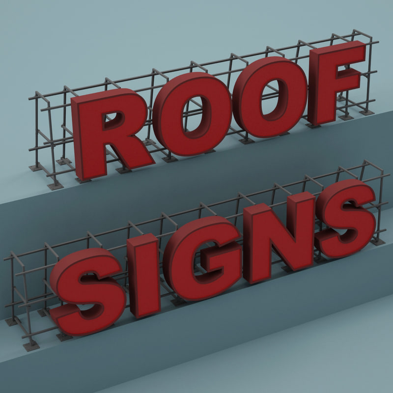 3d Roof Sign