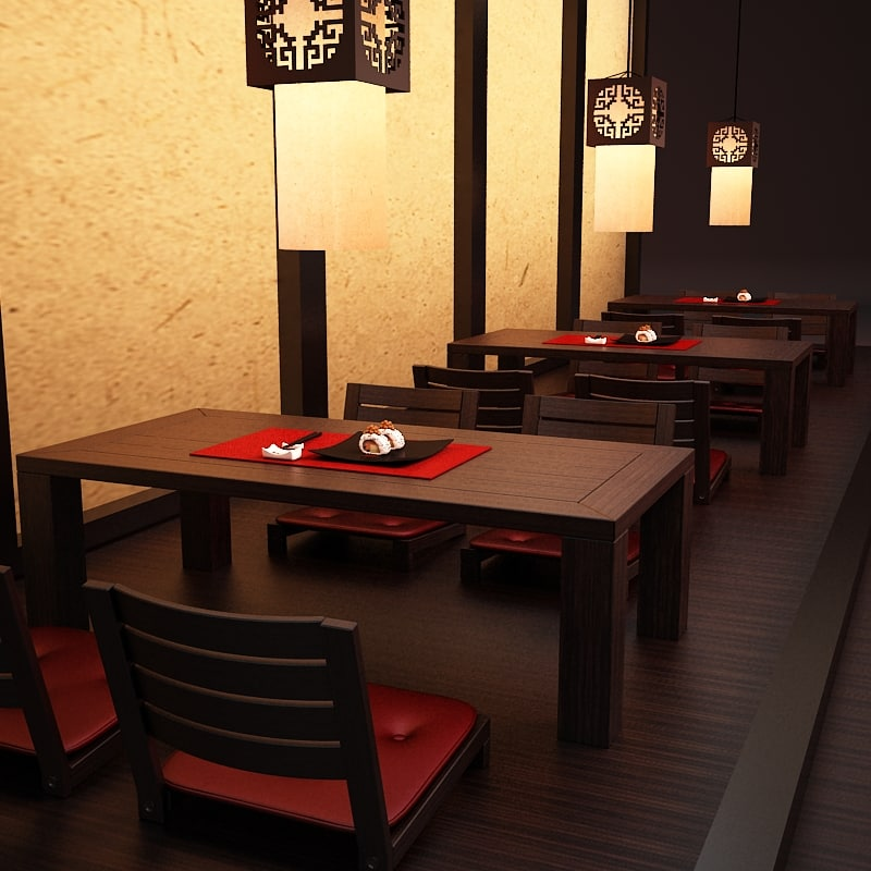 japanese table and chairs wedding chair covers navy blue set sushi max