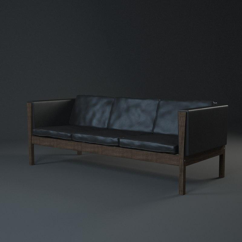 hans wegner sofa ch163 dallin sectional grey max j ch 163