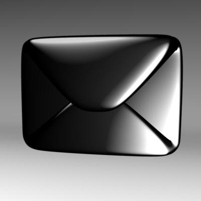 3d envelope mail symbol model
