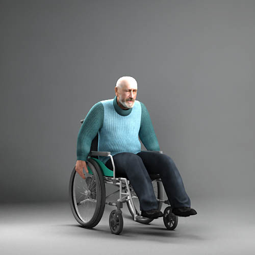 wheelchair man beach kitchen table and chairs 3d axyz 8