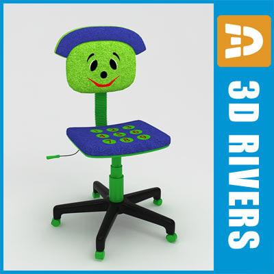 kids computer chair swimways premium canopy 3d 3ds kid