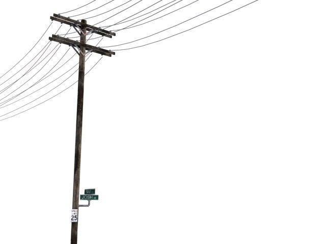 telephone pole 3d max