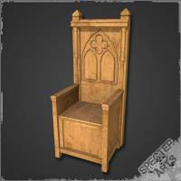 3ds max medieval throne