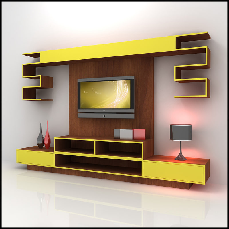 3ds Max Modern Tv Wall Unit