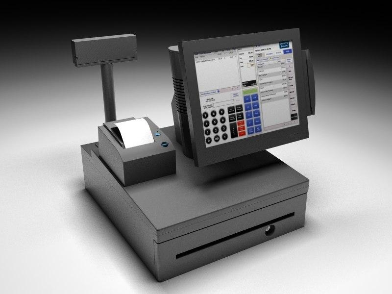 Ibm Register Touch 3d Model