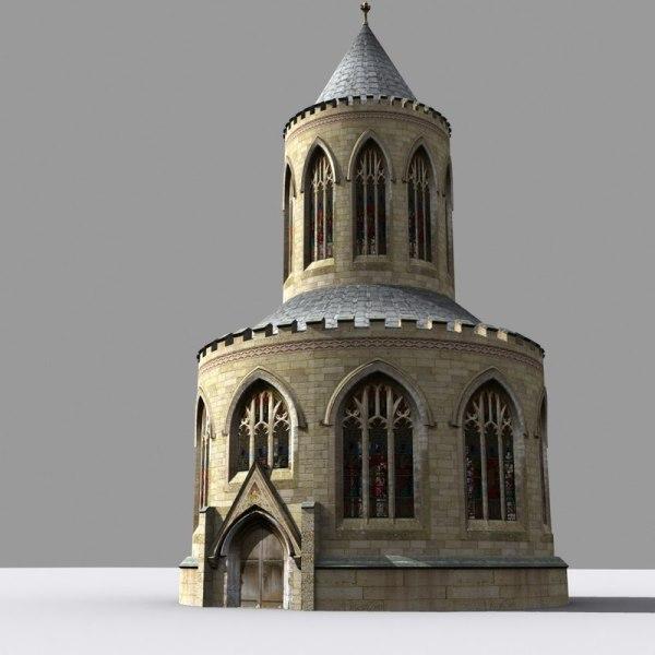 3D Medieval Gothic Architecture