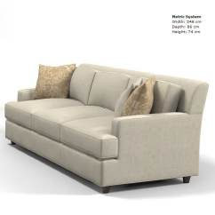 Baker Furniture Max Sofa Ivory Leather And Loveseat Jaques Garcia 3d Model