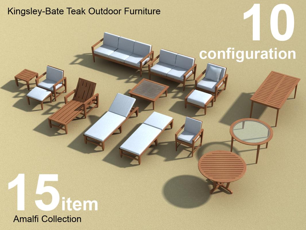 swing chair revit family high wooden kingsley outdoor furniture amalfi 3d model