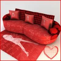 sexy sofa carpet 3d model