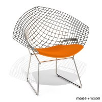 3d bertoia diamond chair knoll model