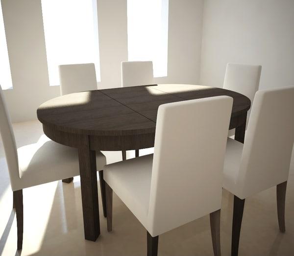 table et chaises extensibles ikea bjursta henricksdal