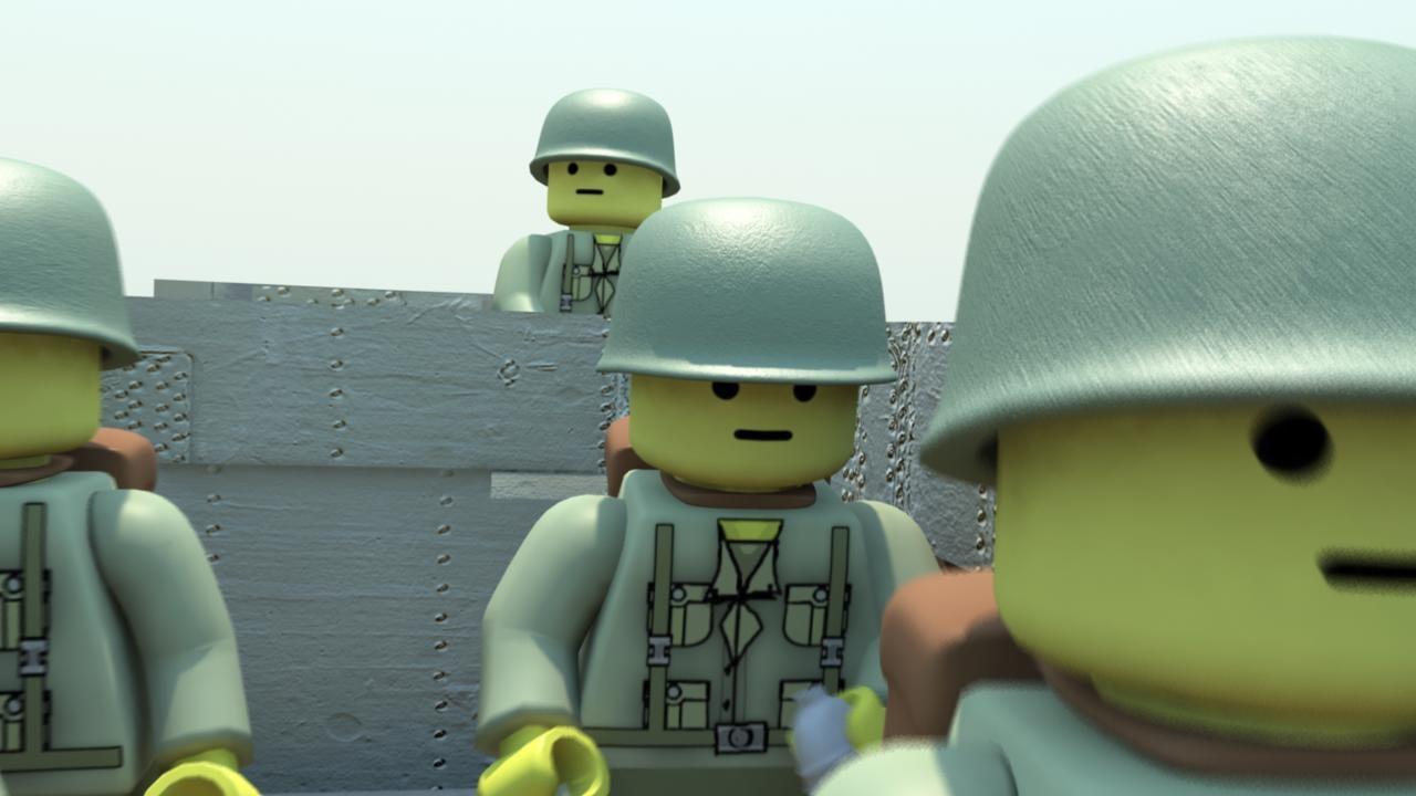 3d Obj Military Lego Man Ww2