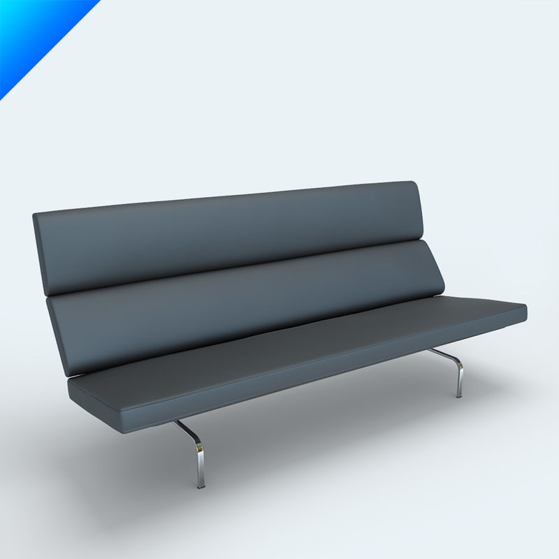 eames sofa compact granite terraria 3d charles vitra