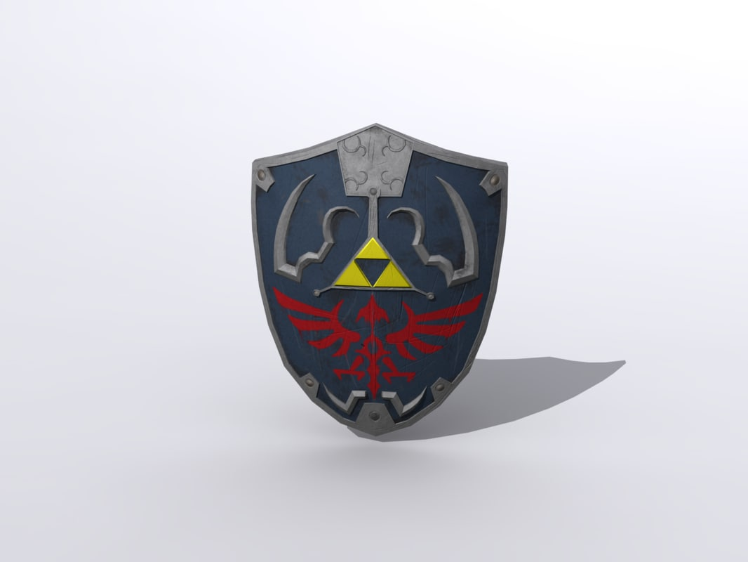 3d Shield Hylian