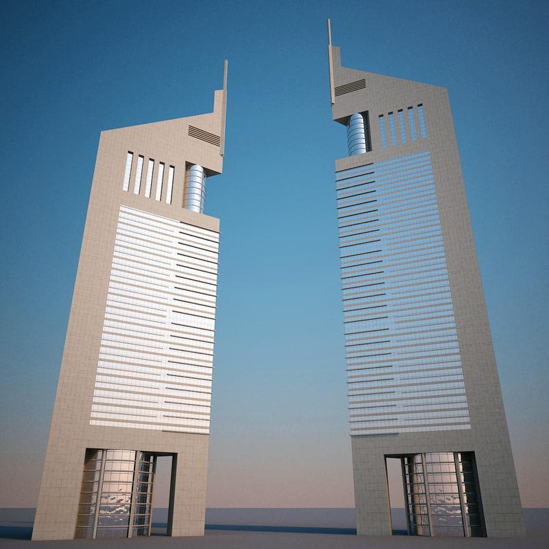 Jumeirah Emirates Towers 3d Model
