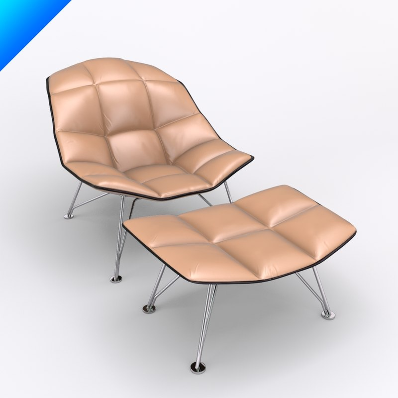 jehs laub lounge chair cheap and table rentals 3d model