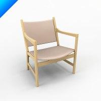 3d ch52 hans wegner chair classic