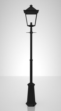 3ds max victorian london street lamp