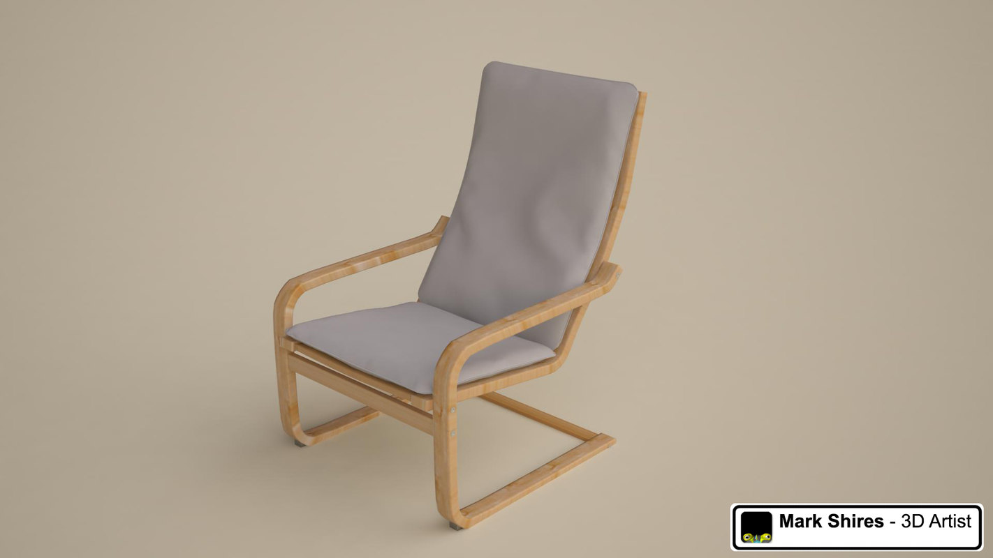 ikea poang chair review glider covers canada 3d model of