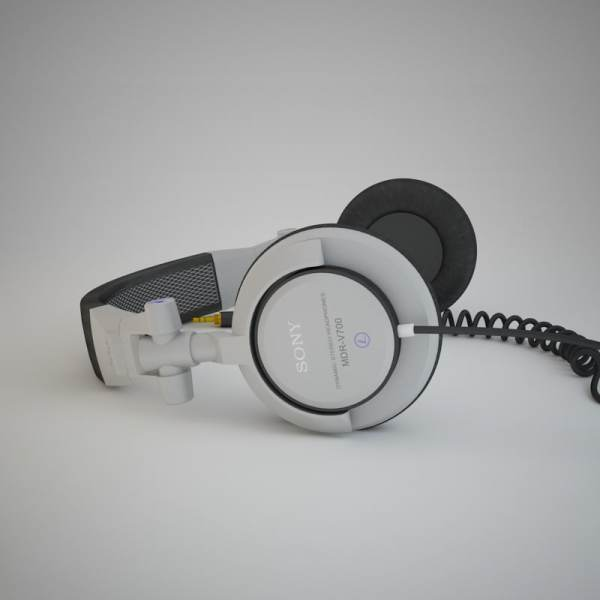 Sony Mdr-v700 Headphones 3d Model