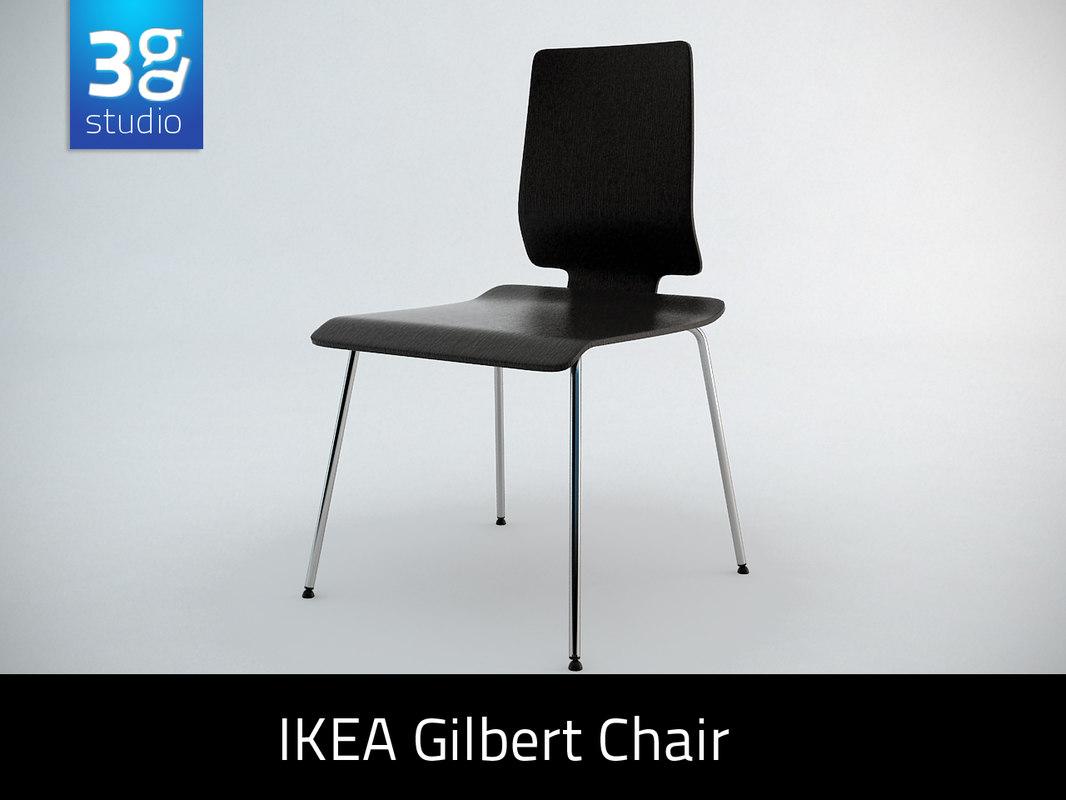 gilbert chair ikea wicker indoor cushions 3d obj