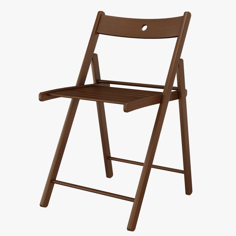 ikea folding chair swing kuala lumpur 3d model terje foldable wood