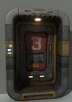 3d model of science fiction door