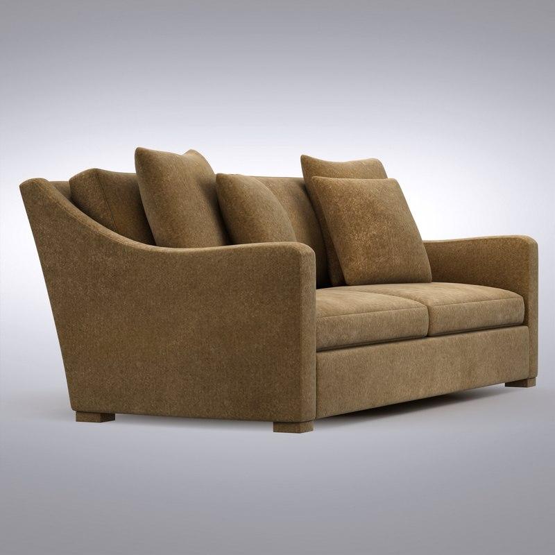 crate and barrel verano sofa restoration hardware brompton leather 3d max