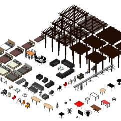 Swing Chair Revit Family Go Battery 3d 3ds Furniture Pack